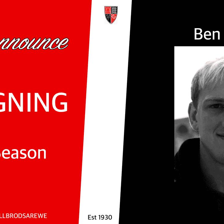 NEW SIGNING - Ben Hoyle