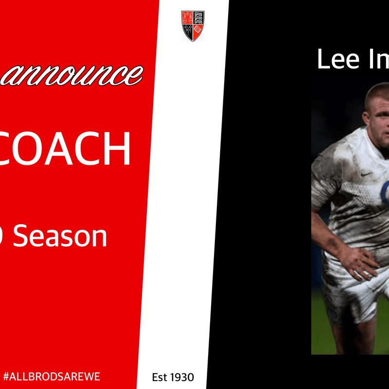 New Coach - Lee Imiolek