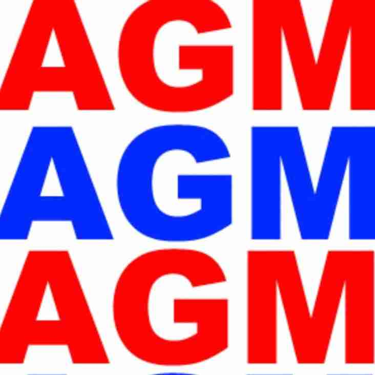 The club AGM, 28th June, 18:30 at The Rectory.