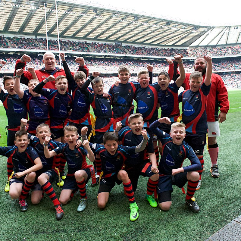 The Under 11s victorious at Twickenham in front of 80,000 crowd.