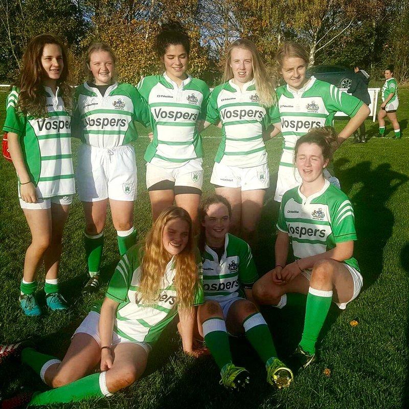 Devonport Services girls in the Devon under18s and 15s