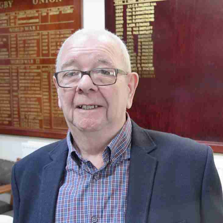 Mick Edwards on a visit to the club