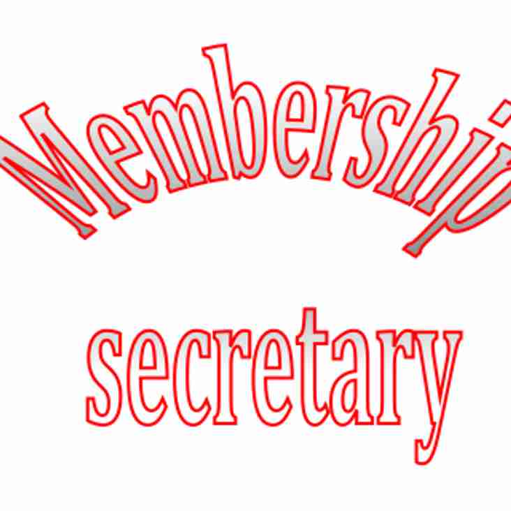 The senior club is looking for a new membership secretary.