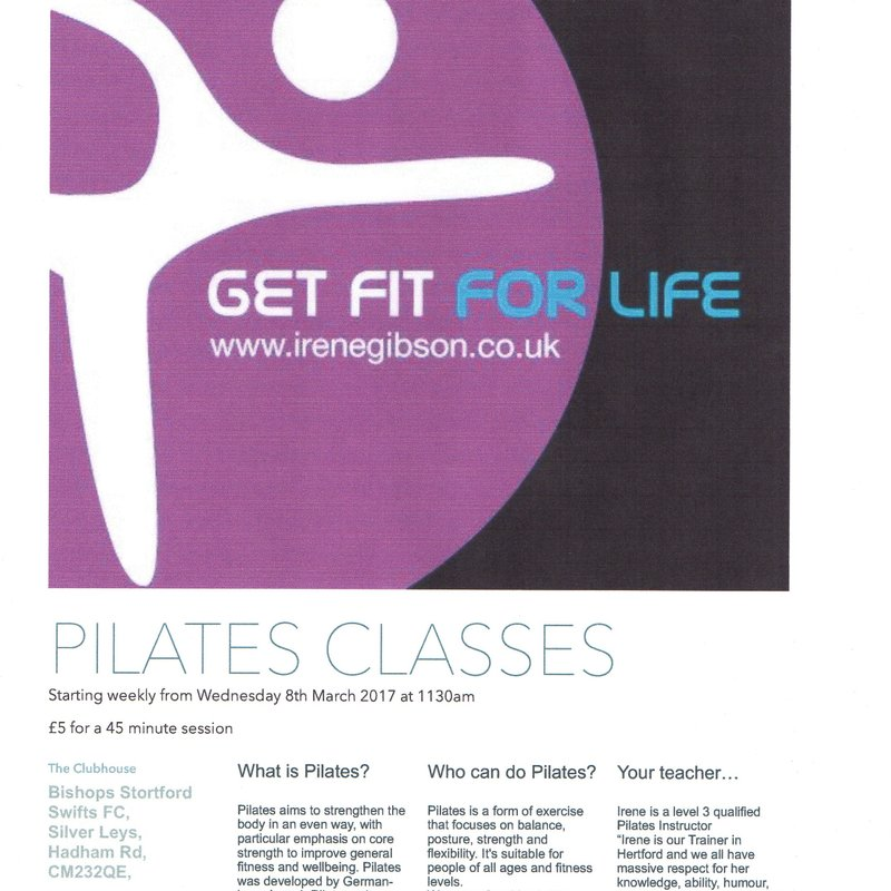 New Pilates classes starting