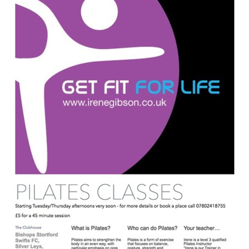 More pilates classes starting