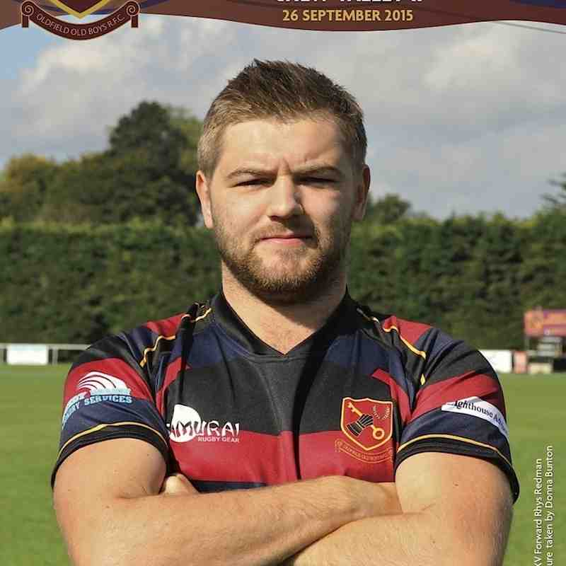 1st XV Match Programme Cover vs Chew Valley II 26 September 2015 - Features 1st XV Forward Rhys Redman. Match Sponsor Greg Simpkins. Picture Donna Bunton