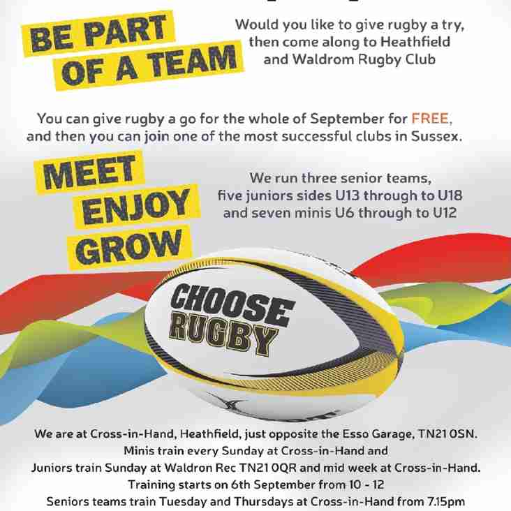 HWRFC Club Stand at Le Marche - 31 Aug 2015