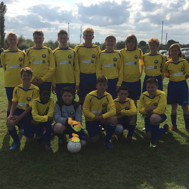 Under 14 Blues beat Cullercoats 1 - 4