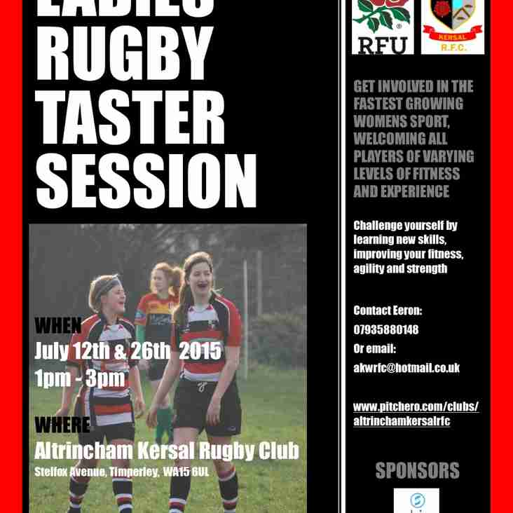 Ladies Rugby Taster Sessions