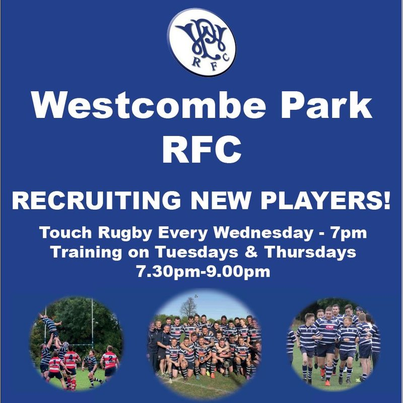 Westcombe Park RFC - RECRUITING NEW PLAYERS!