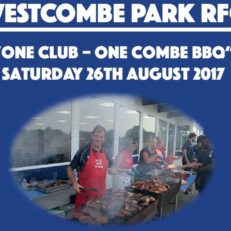 One Club – One Combe BBQ - Saturday 26th August 2017