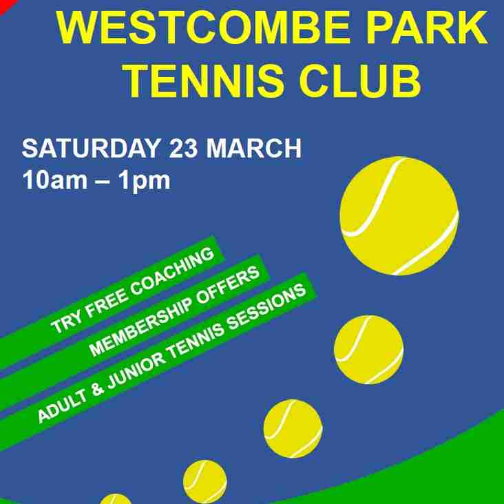 Westcombe Park Tennis Club - Open day Saturday 23rd March