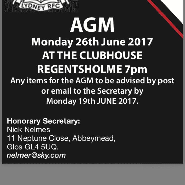 LYDNEY RFC AGM