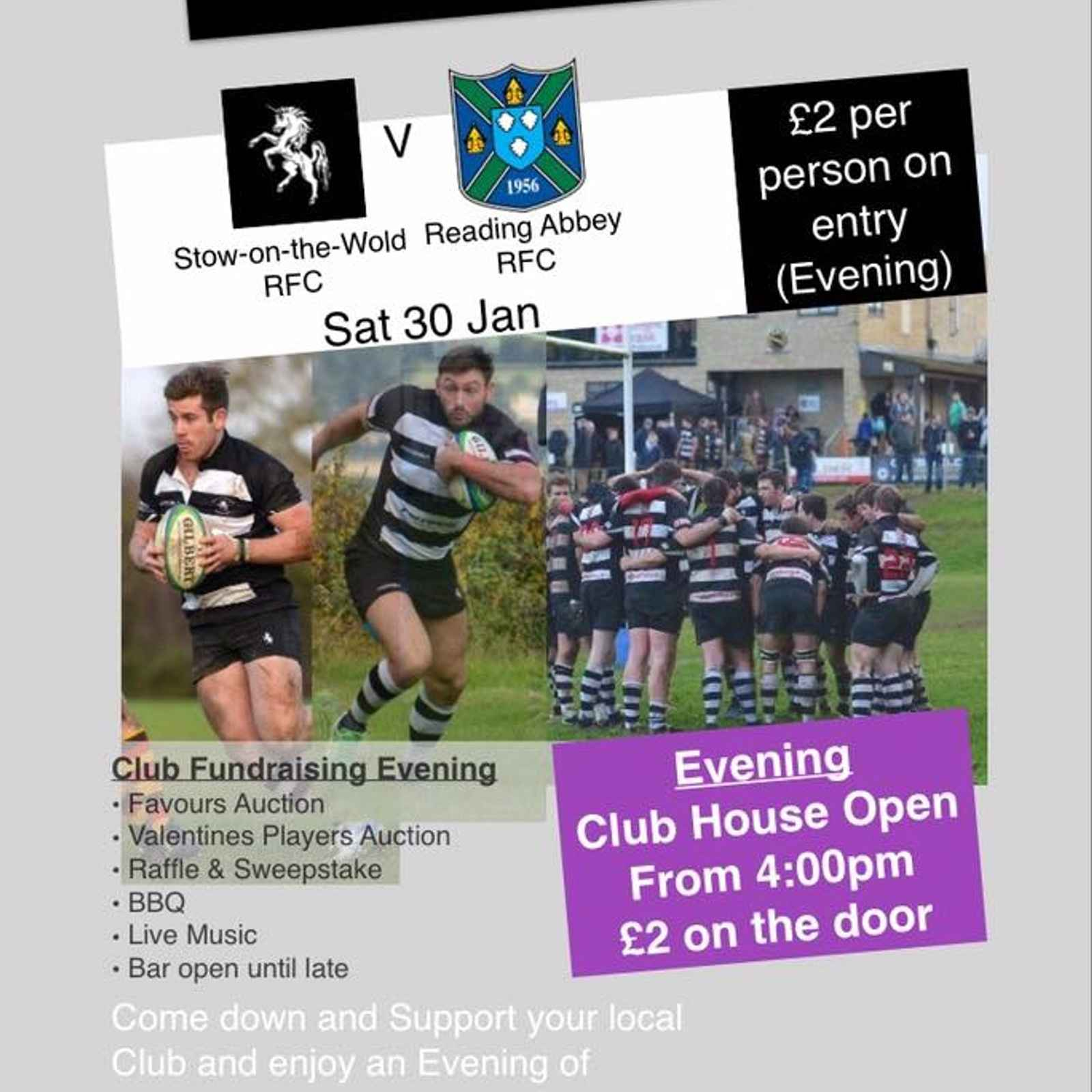 Club Fundraiser 30th Jan...Please come along and invite your friends!
