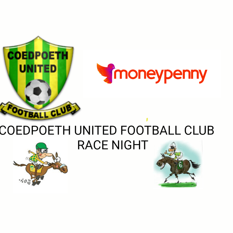 Coedpoeth United Football Club race night sponsored by Moneypenny