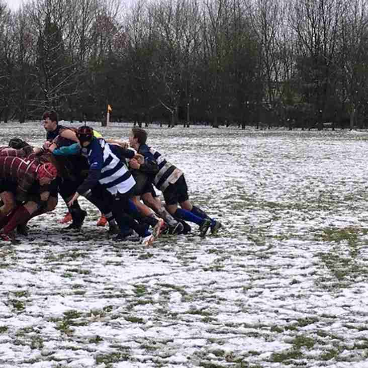 U14s and U17s play in the snow