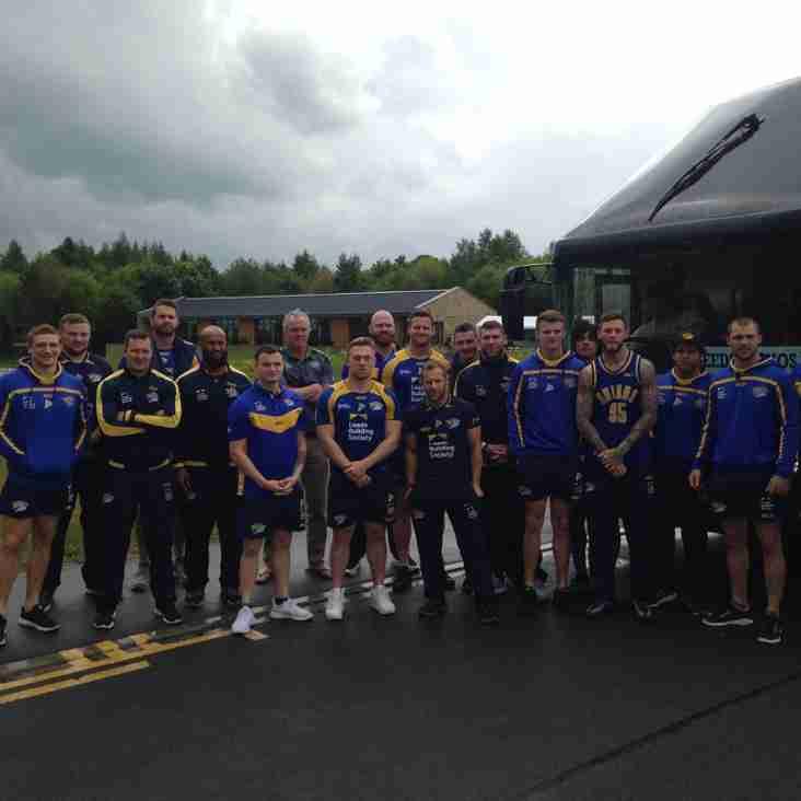 Leeds Rhinos depart from Harrogate Rugby Club for Magic Weekend