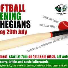 Softball Evening Friday 29th July