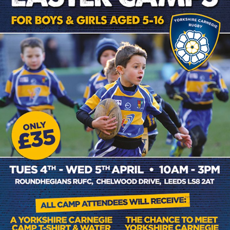 Yorkshire Carnegie Rugby Camps at Roundhegians