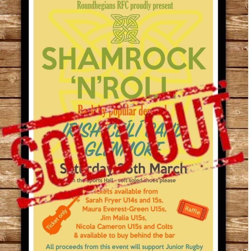 Shamrock'n'Roll - Saturday March 25th - SOLD OUT