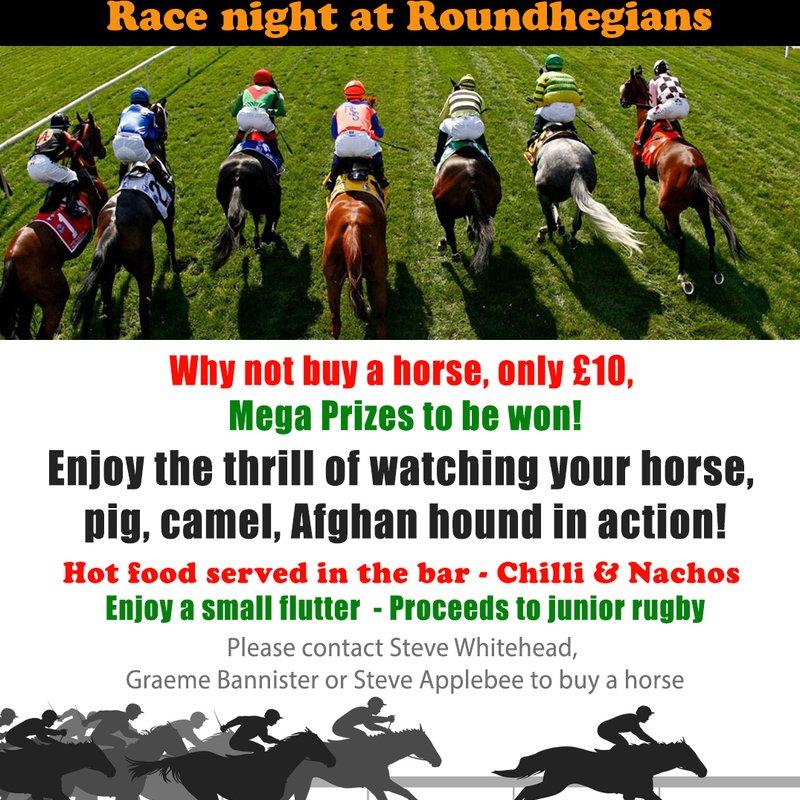 Race Night - Friday 7th April