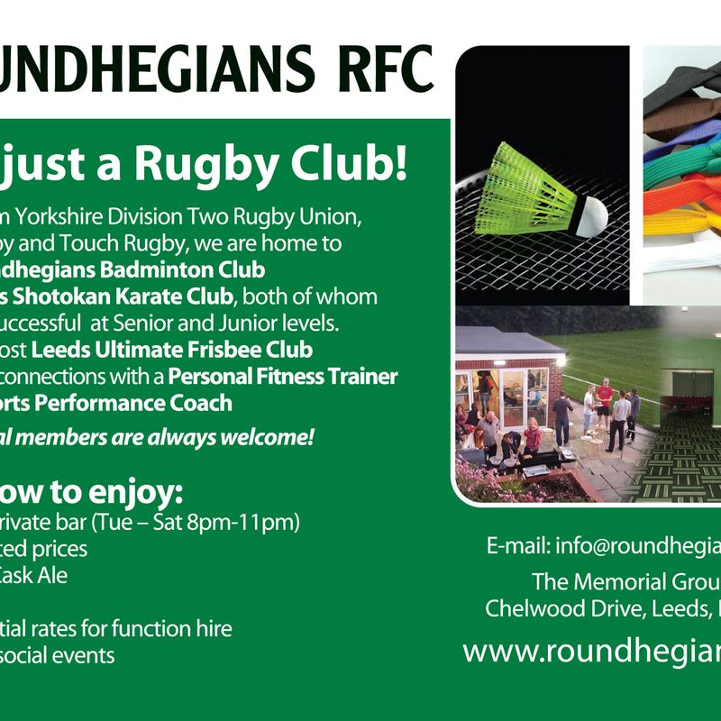 Roundhegians Open Day July 7th