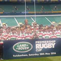 U11's celebrate the Land Rover cup at Twickenham