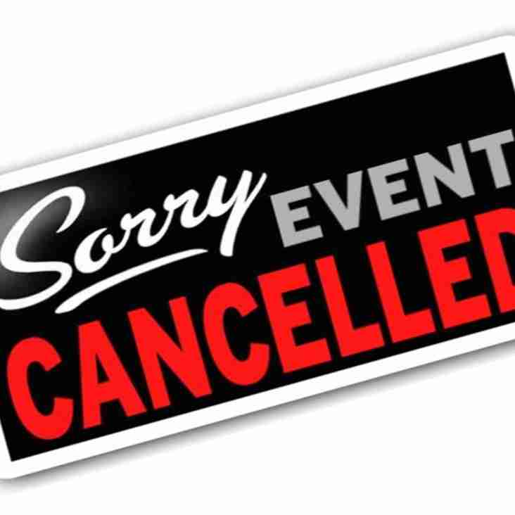 IMPORTANT - EASTER 8s 2018 CANCELLED!