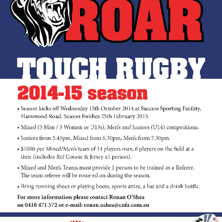 Cockburn Roar Touch 2014/15 Season