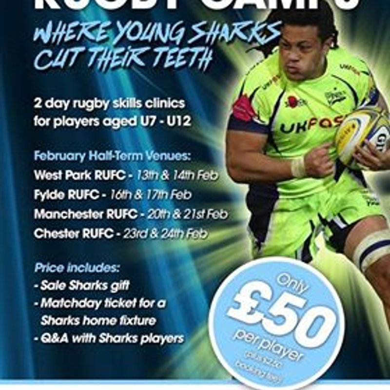 Sale Sharks Rugby Camp.  13th & 14th Feb