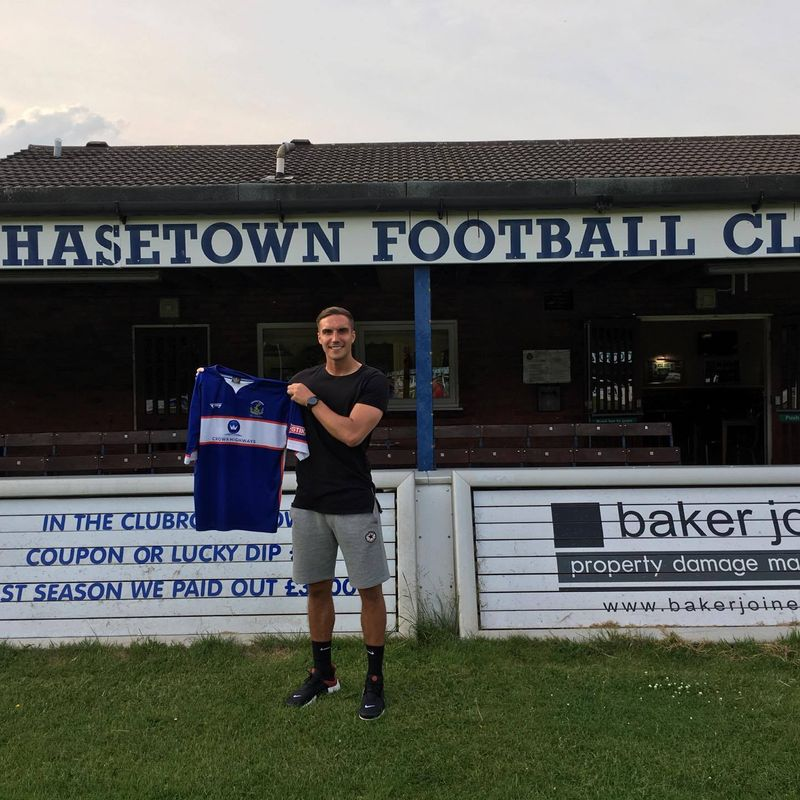 Chasetown sign centre back Gunnell