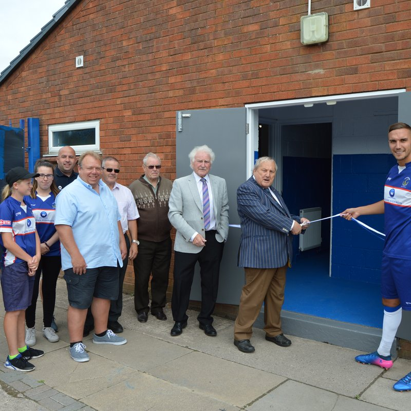 Changing room facilities upgraded and opened
