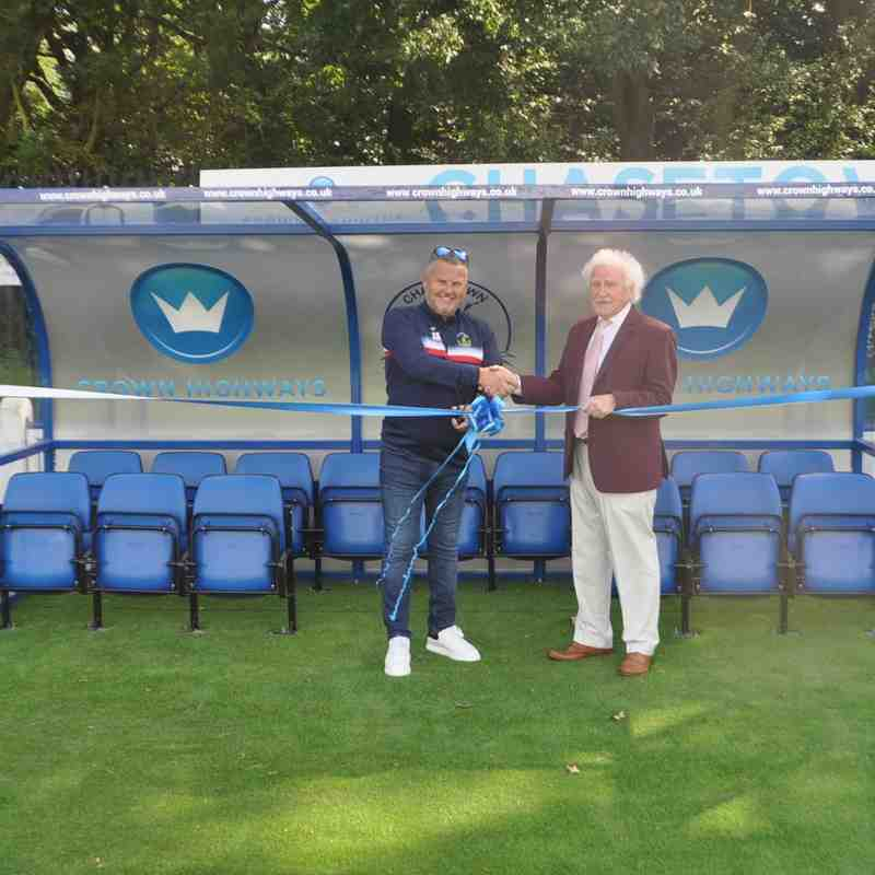 Dug Outs Officially Opened
