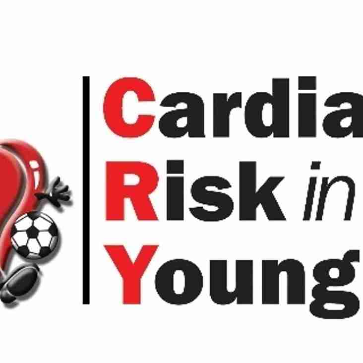 CRY - Free Cardiac Testing for 14 - 35 year olds - 10 & 11 June at College Meadow