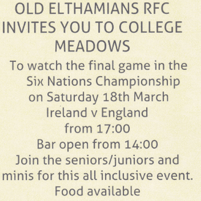 Six Nations Comes to College Meadow - Ire vs Eng - 18th March