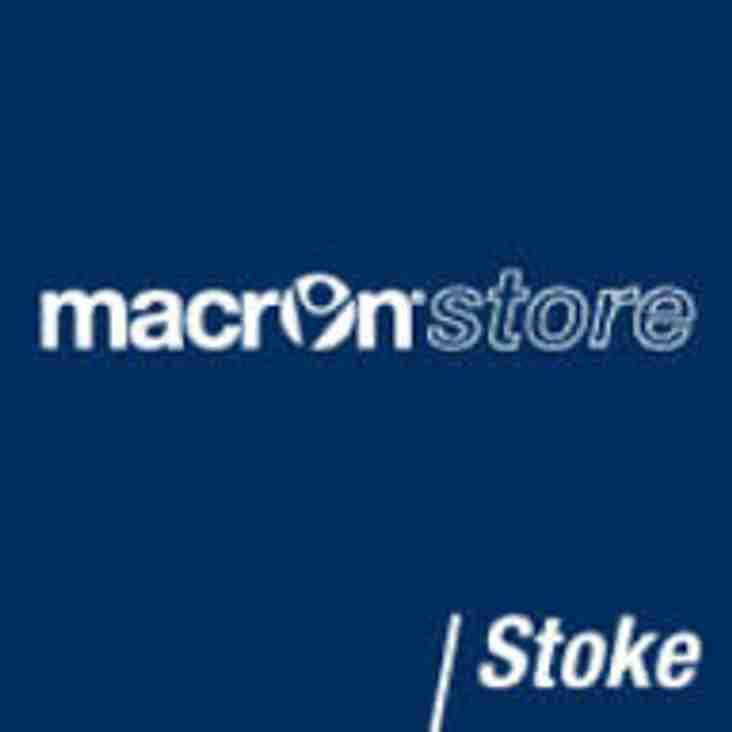 Sponsorship Update - Macron Store Stoke