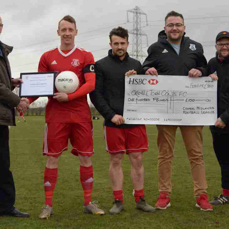 Presentation to Crowle Colts