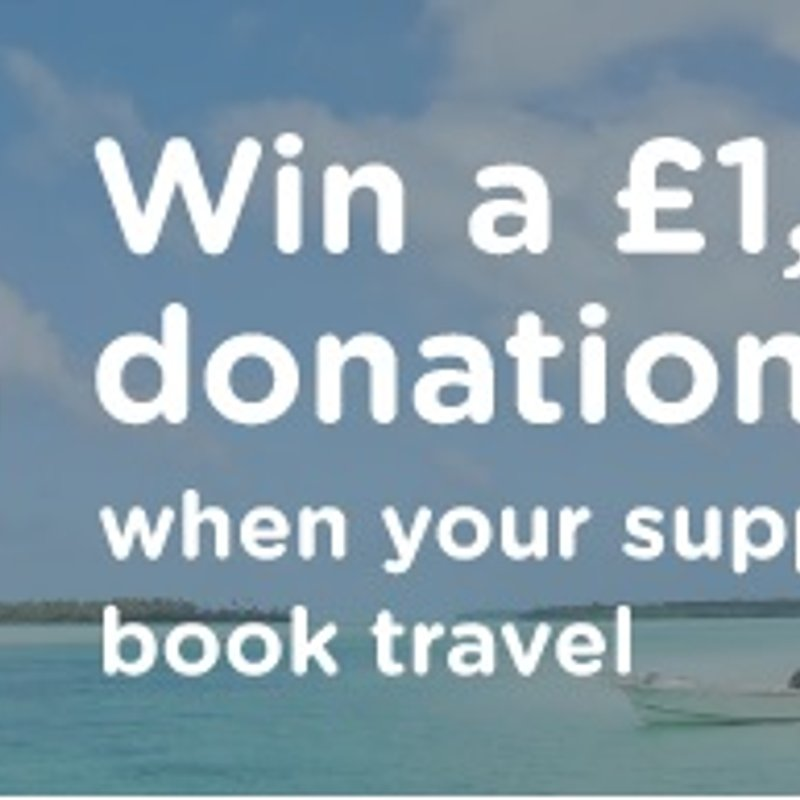 Chance to win £1000 for the club when booking travel