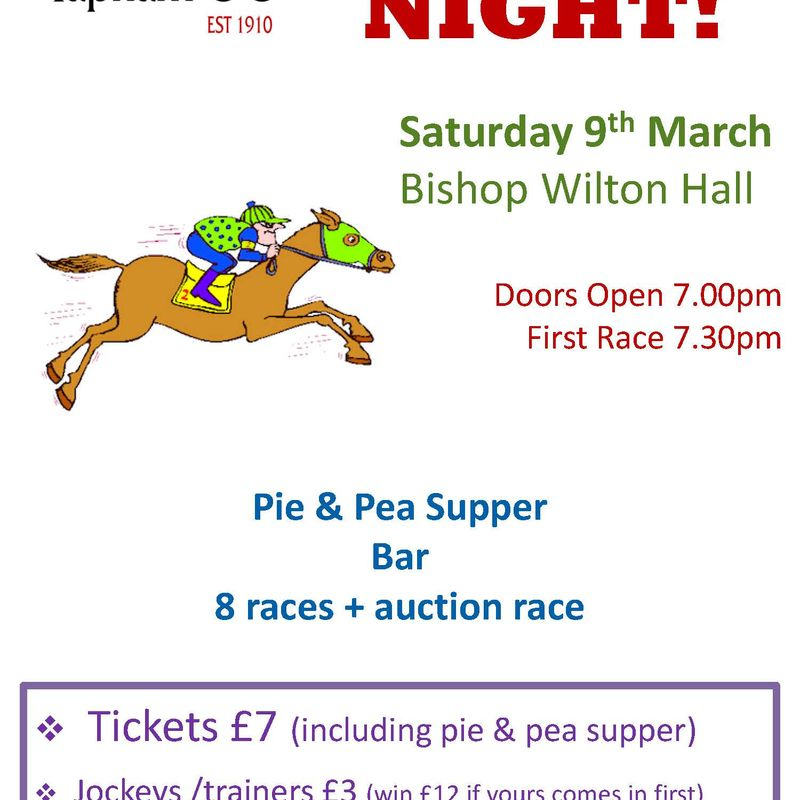 Race Night! - Saturday 9th March