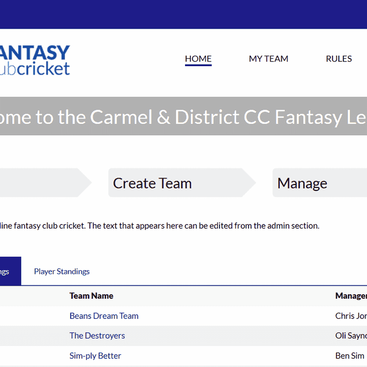 Five days to join Carmel fantasy league!