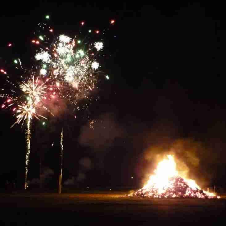 Club bonfire night - a word of thanks