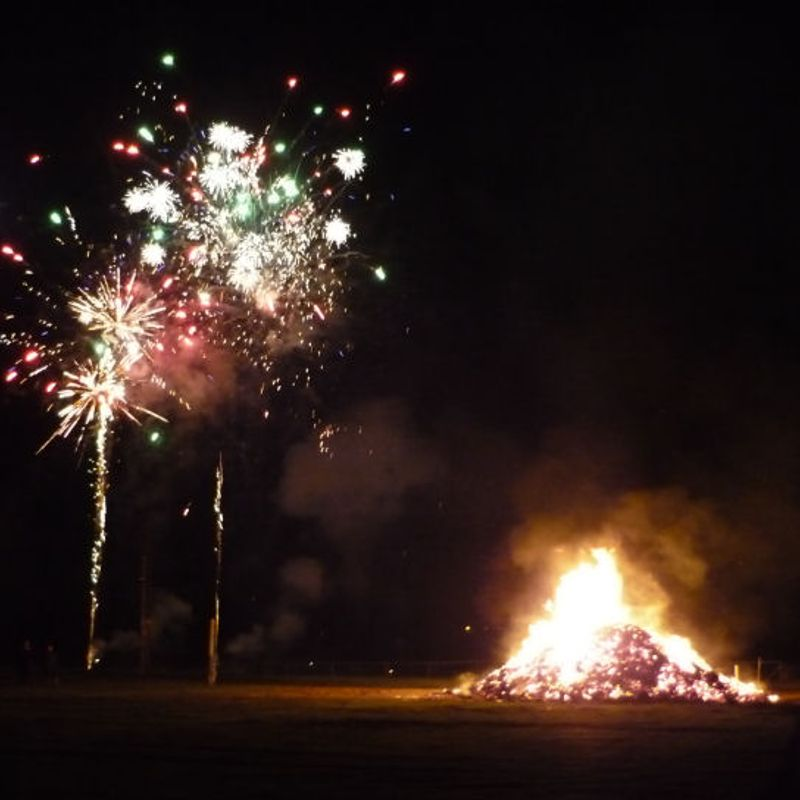 Carmel bonfire and fireworks display - November 4th