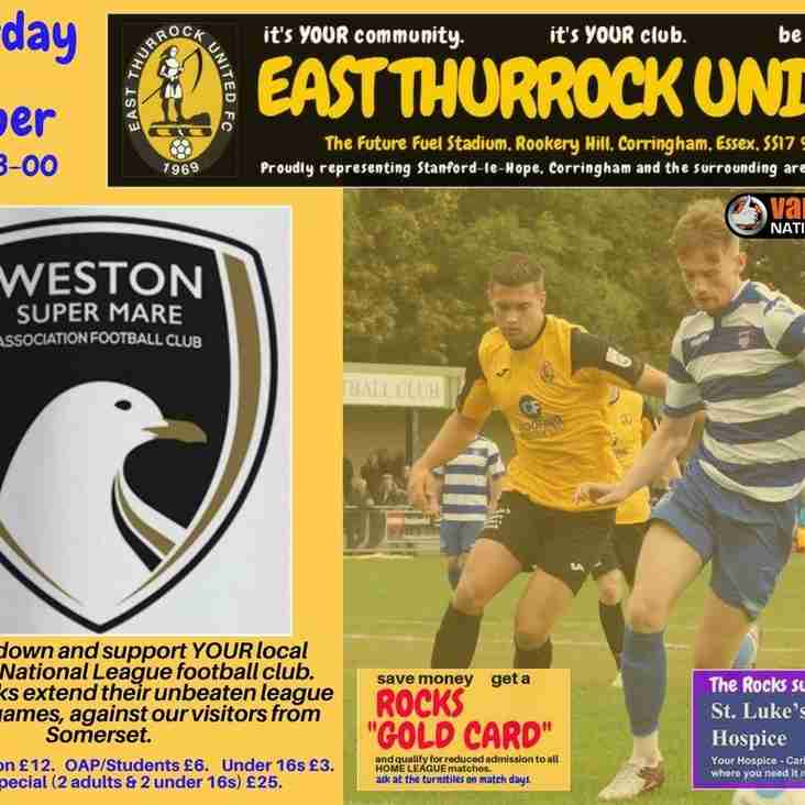 Match Day - Saturday 15th October.