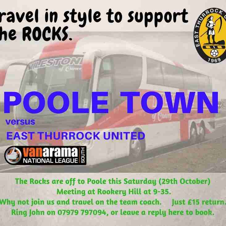 Coach to Poole Town
