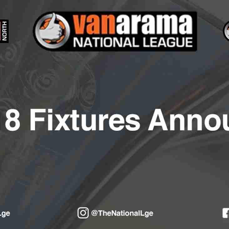 2017/18 Fixtures Released