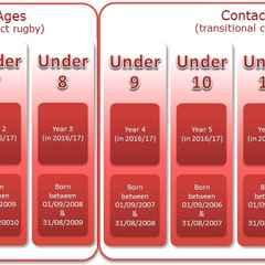 2016/2017 Minis Age Chart