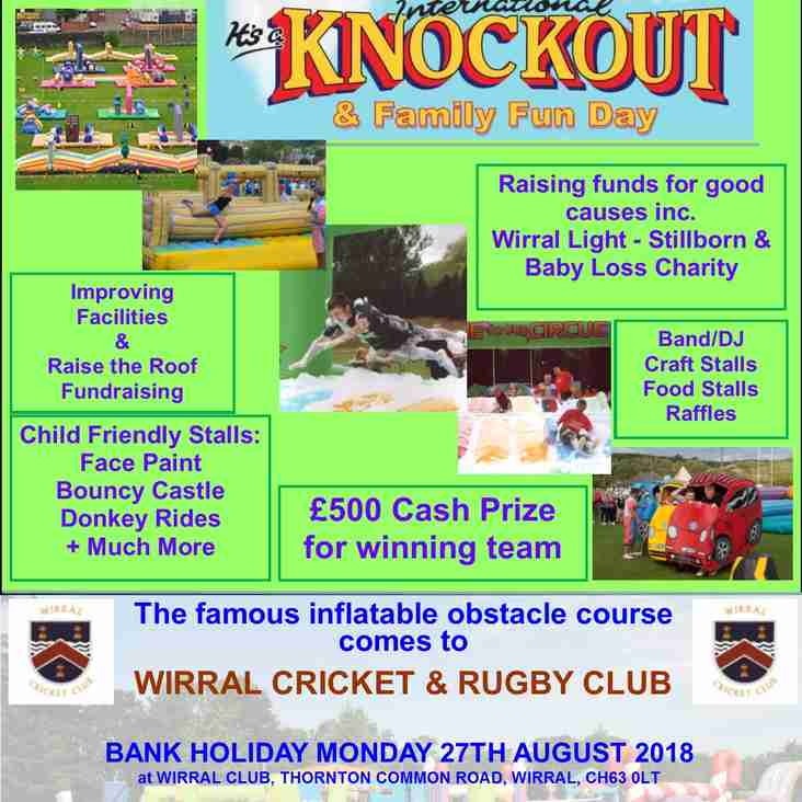 It's a Knockout - Our big, fun family event - Bank Holiday Monday 27th August 2018