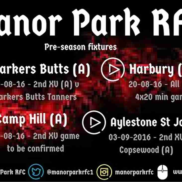 Pre-season games for 2016/17