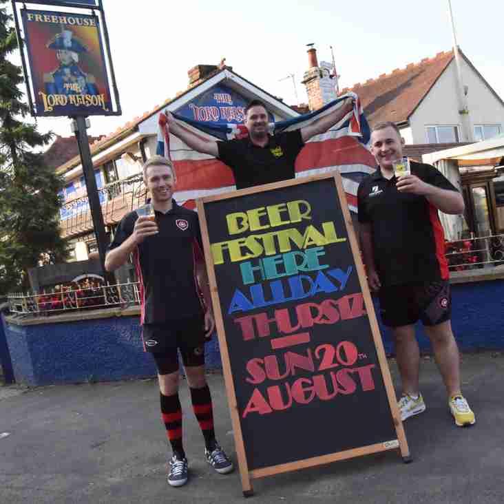 Beer festival Thursday-Sunday at our sponsor the Lord Nelson Inn!