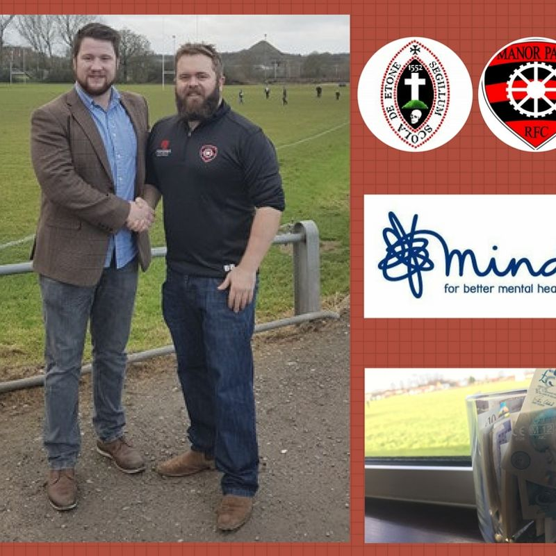 Manor Park RFC pledges support to Nuneaton Old Edwardians RFC's fund-raising for MIND charity